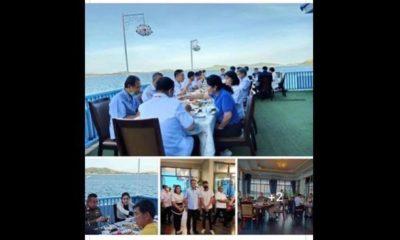 ชาวเน็ตติง อนุทินการ์ดตก นั่งทานอาหารโต๊ะแน่นเอี๊ยด :โควิด-19   Tadoo