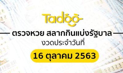 ตรวจหวย 16 ตุลาคม 63 ตรวจสลากกินแบ่งรัฐบาล 16 10 63 | Tadoo